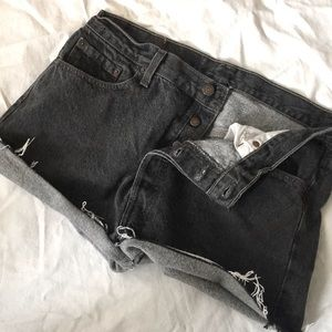 Vtg Made in the USA Levi's 501 button fly cutoffs